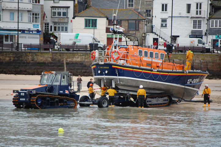 St Ives Lifeboat being Recovered