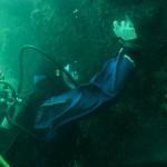 A Diver takes a Photograph (photo John Collins)