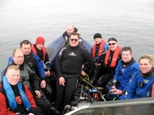 Divers Aboard Oisre On Irelands South Coast
