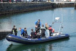 Divers on Dive Boat Kinsale