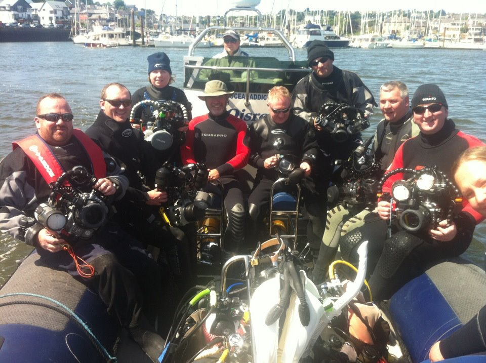 Divers and Cameras onboard Oisre