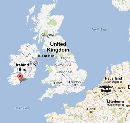 Kaart Oceanaddicts Kinsale Ierland