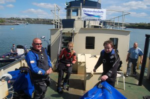 Divers on Embarr in Kinsale